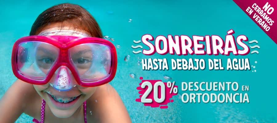 Sonreirás hasta debajo del agua: 20% de descuento en ortodoncia.